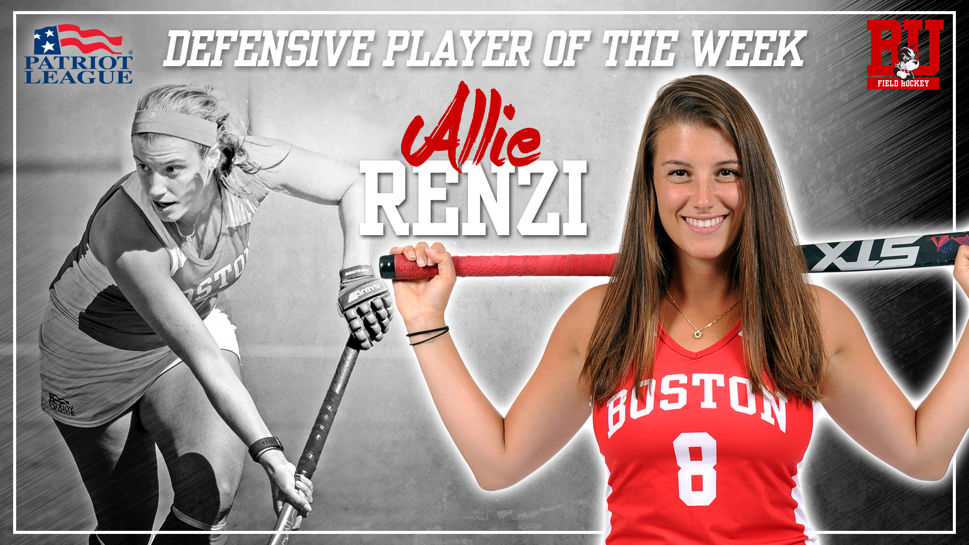 Patriot League Names Renzi Defensive Player of the Week