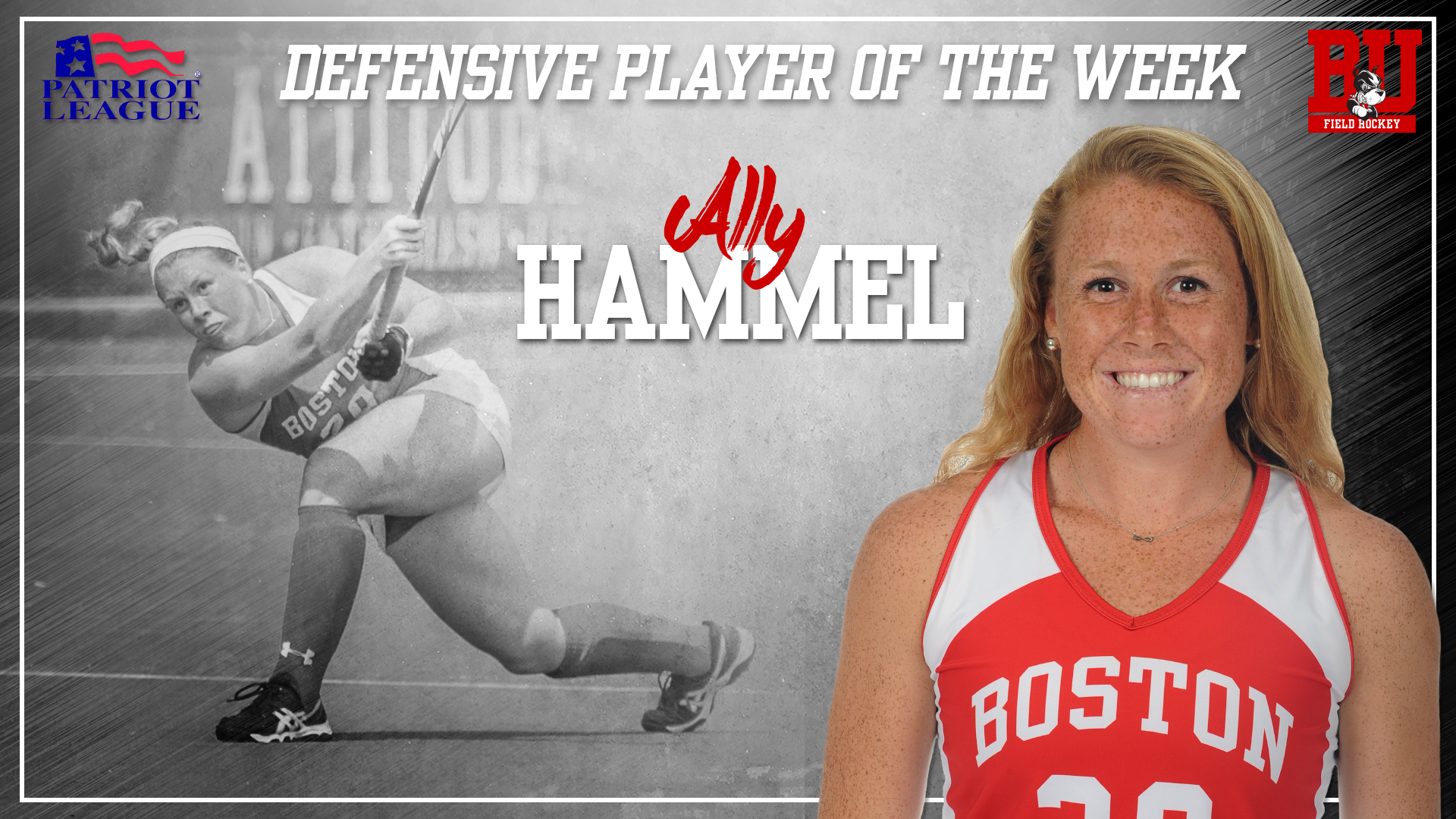 Hammel Tabbed Patriot League Defensive Player of the Week