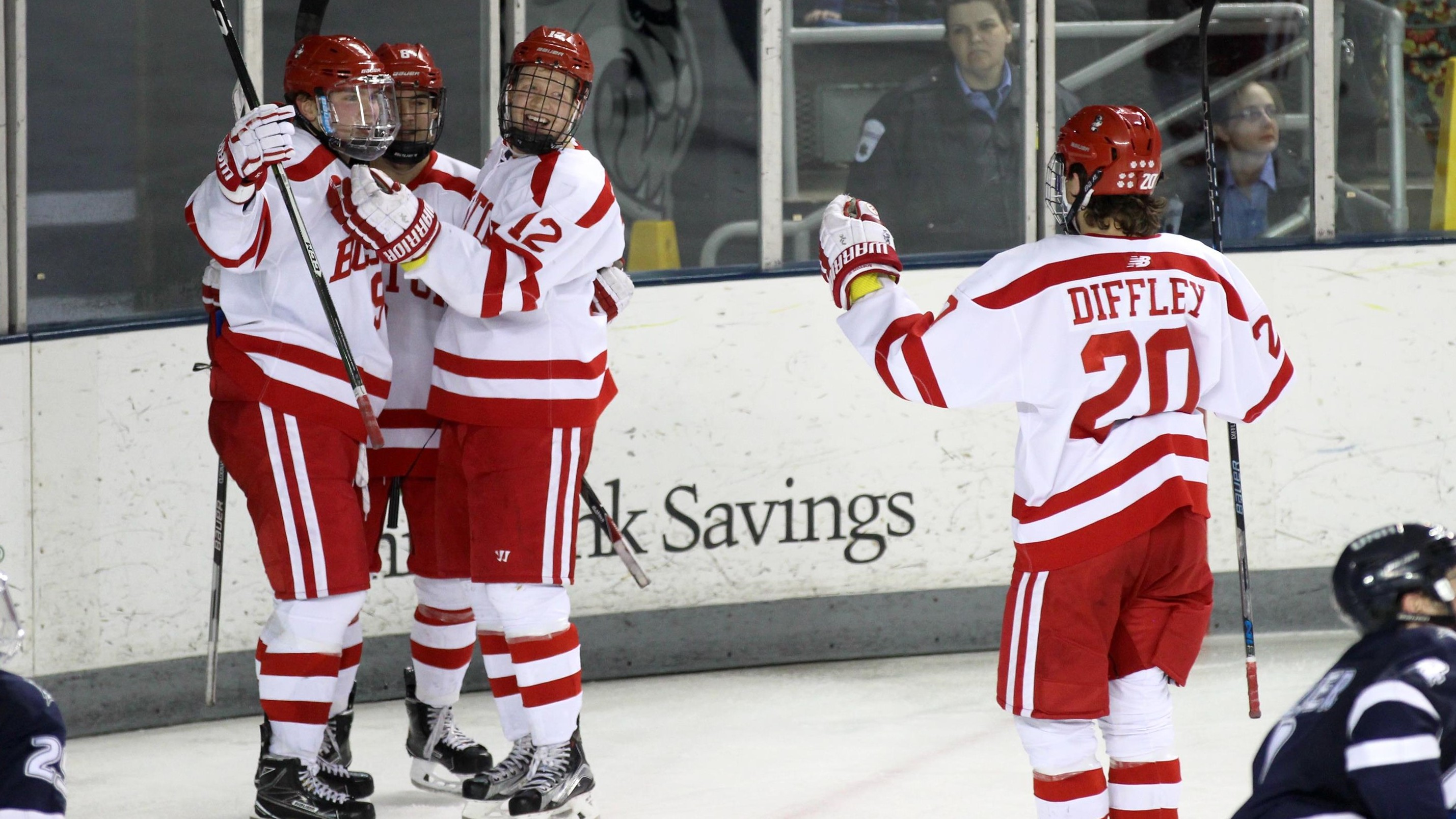 Offense Erupts for No. 4 Terriers in 8-4 Win at UNH