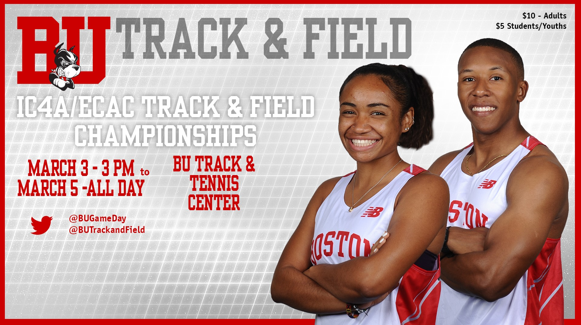 Terriers Compete in IC4A/ECAC Championships Beginning Friday