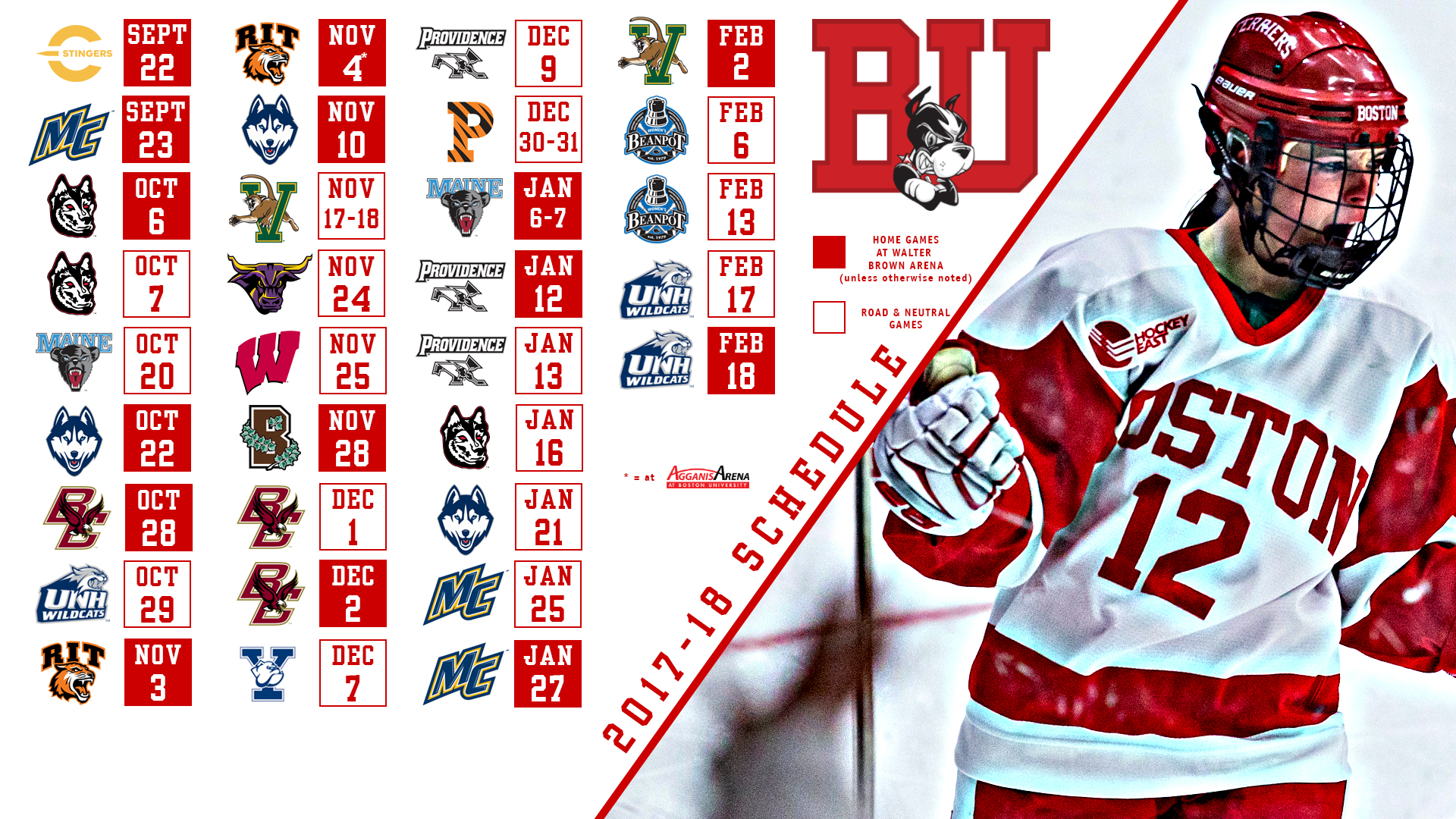 size 40 57956 093f2 Women's Ice Hockey Announces 2017-18 Schedule - Boston ...