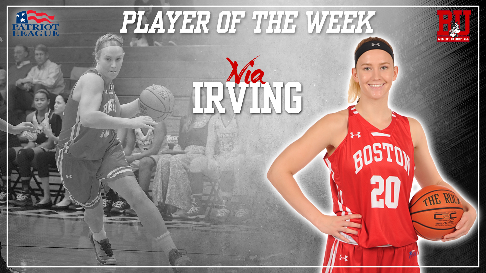 Irving Named Patriot League Player of the Week