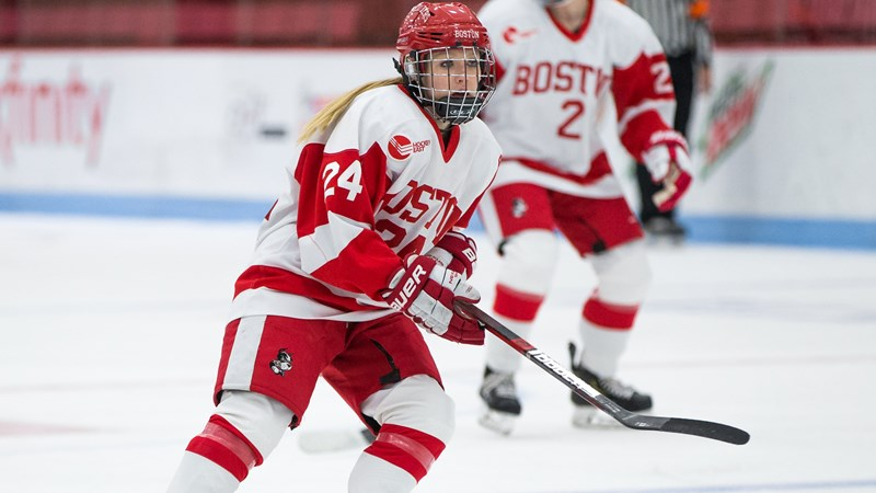 Strong Second Period Pushes BU Past Holy Cross, 4-1 - Boston University Athletics