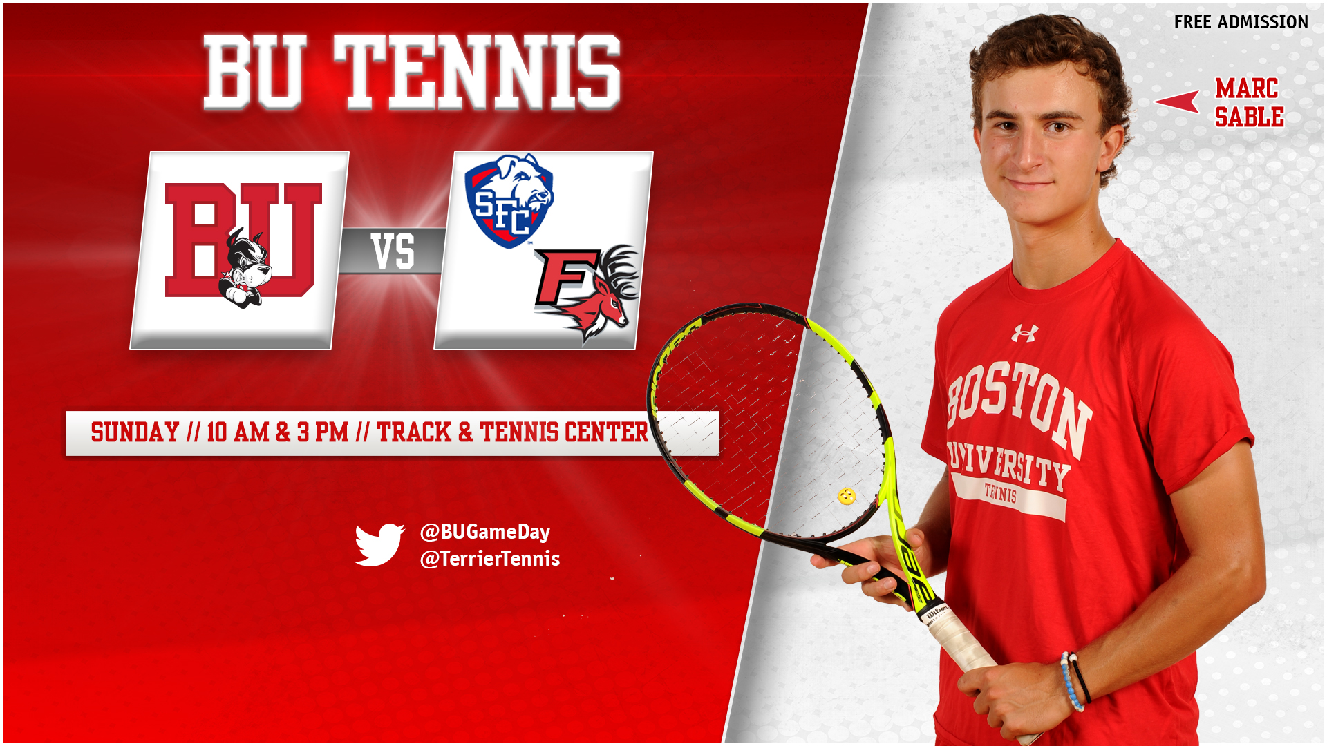 Men's Tennis to Wrap Up Home Slate Sunday with St. Francis Brooklyn and Fairfield