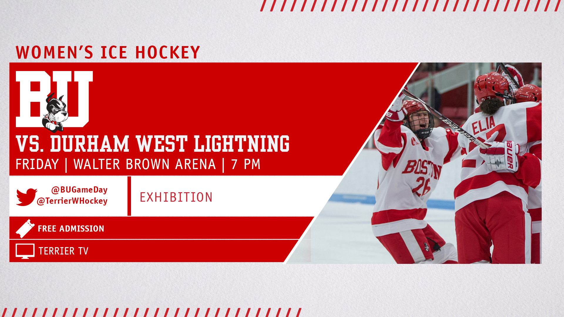 Terriers to Host Durham Lightning in Friday Exhibition