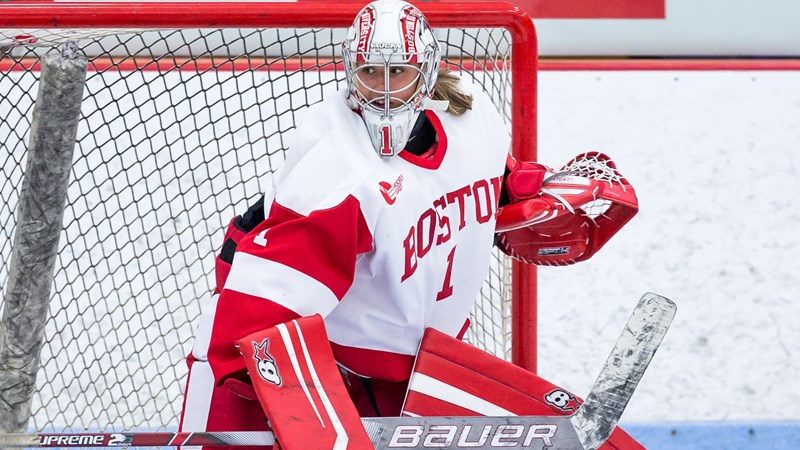Stuart Earns First Collegiate Shutout in 2-0 Win over New Hampshire - Boston University Athletics