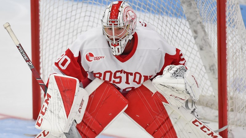 Sensational Schroeder Stops 38 Shots in 1-0 Win at UConn