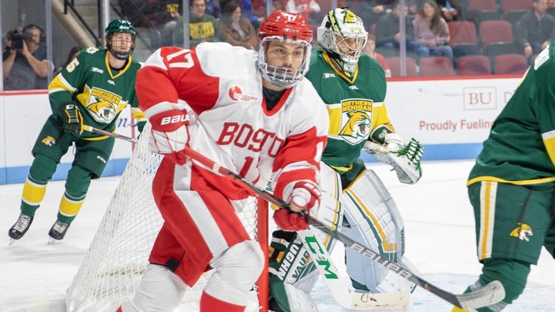 No. 20 Men's Ice Hockey Edged by Northern Michigan, 4-3