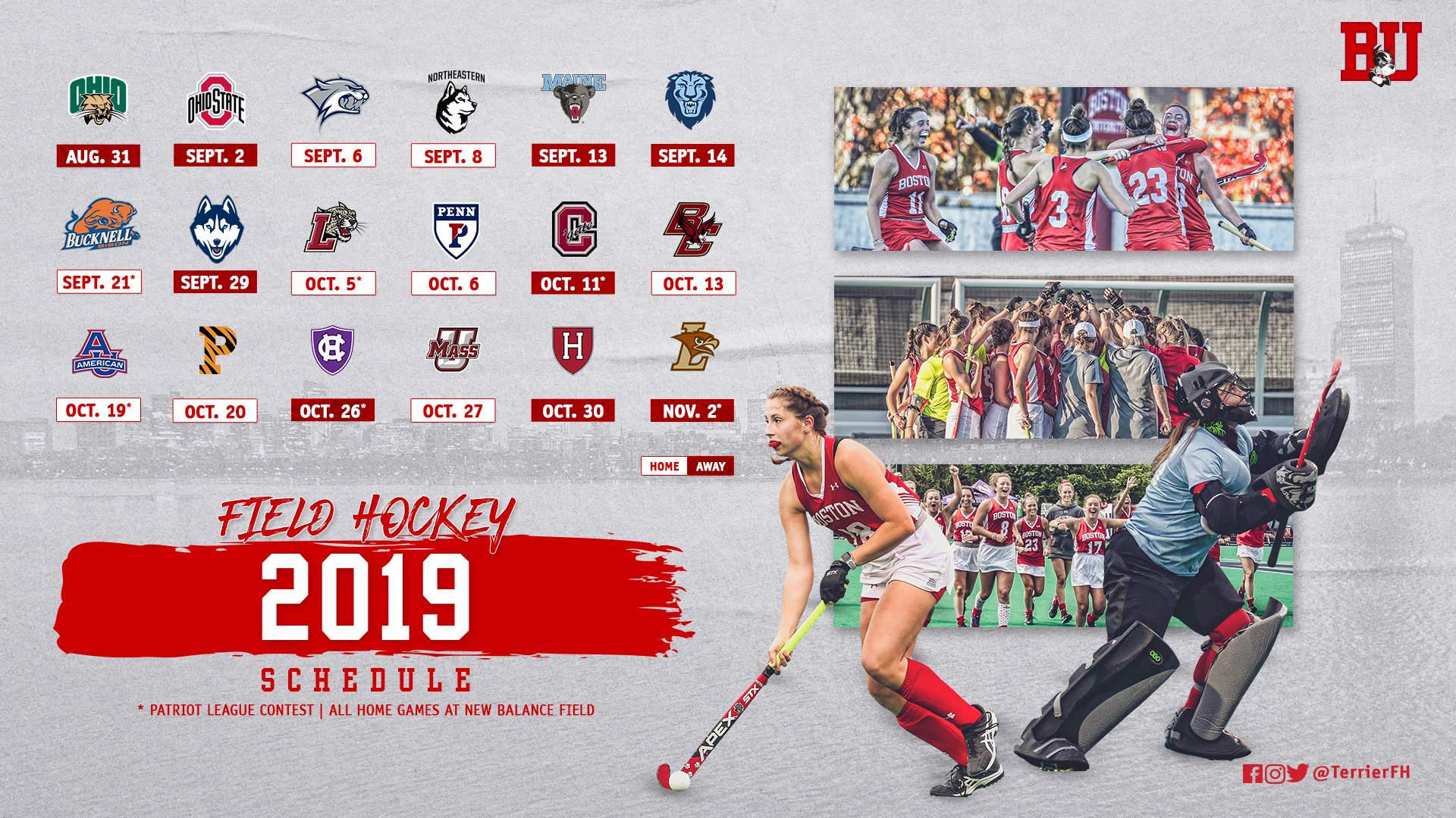 Field Hockey Announces 2019 Schedule Roster Boston University
