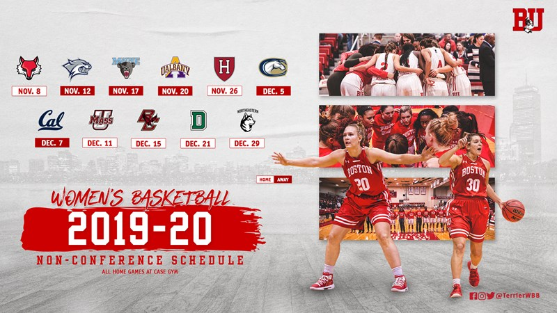 79bed7f4 Women's Basketball Releases Non-Conference Schedule - Boston ...